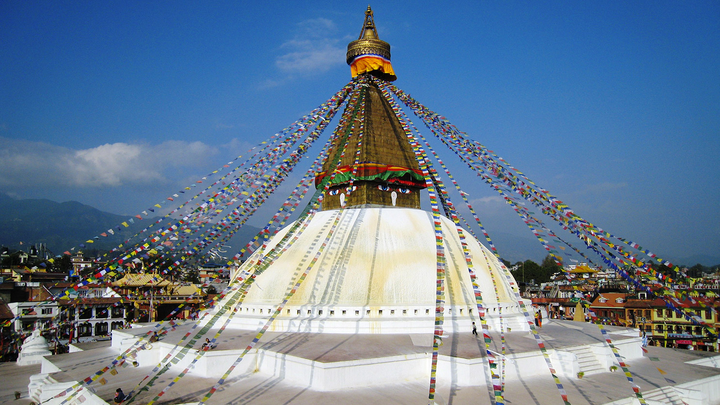 Incroyable Stuppa de Bodnath à Katmandou